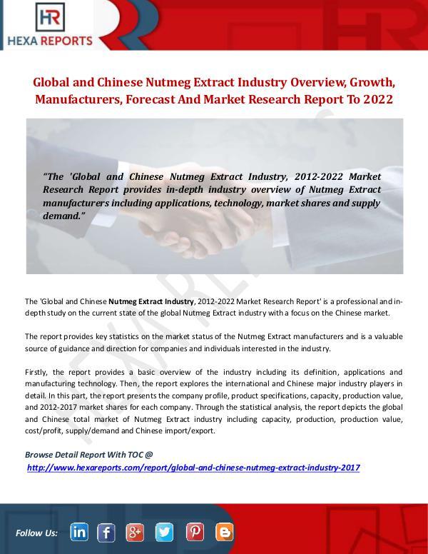 Nutmeg Extract Industry