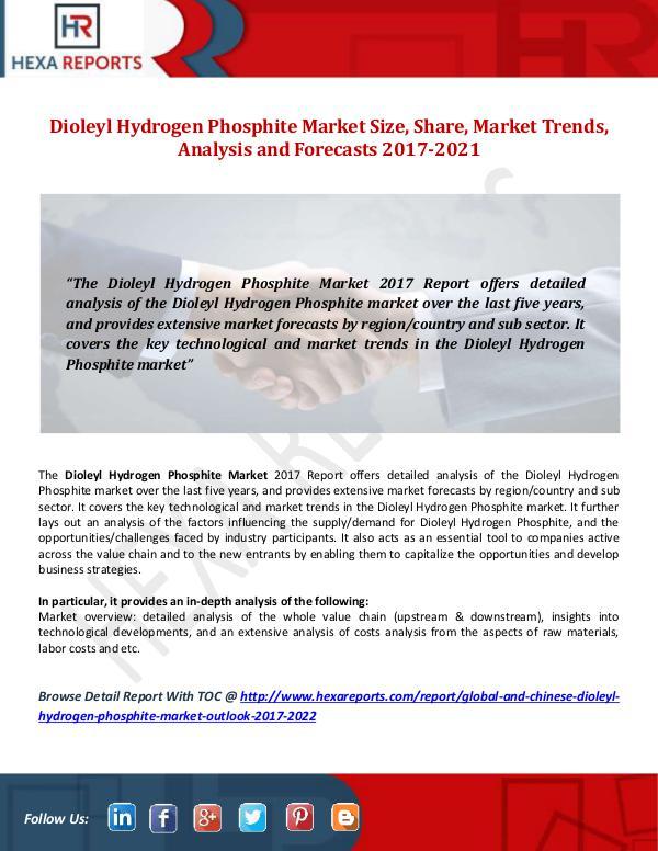 Dioleyl Hydrogen Phosphite Market