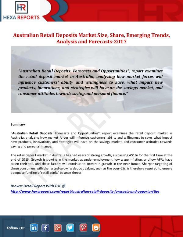 Australian Retail Deposits Market