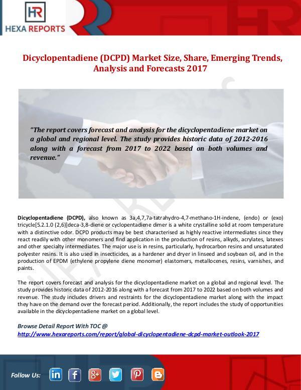 Dicyclopentadiene (DCPD) Market
