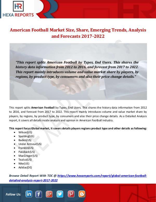American Football Market Size, Share, Emerging Tre