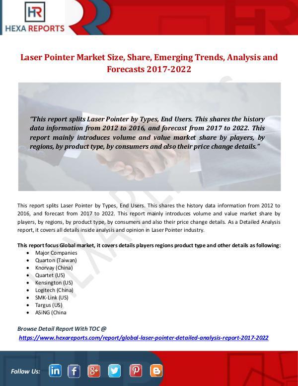 Laser Pointer Market Size, Share, Emerging Trends,