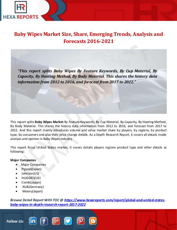 Baby Wipes Market Size, Share, Emerging Trends, An