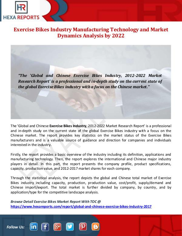 Hexa Reports Exercise Bikes Industry Manufacturing Technology a