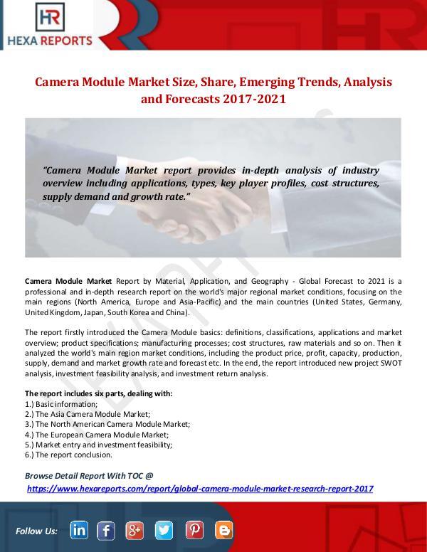 Camera Module Market Size, Share, Emerging Trends,