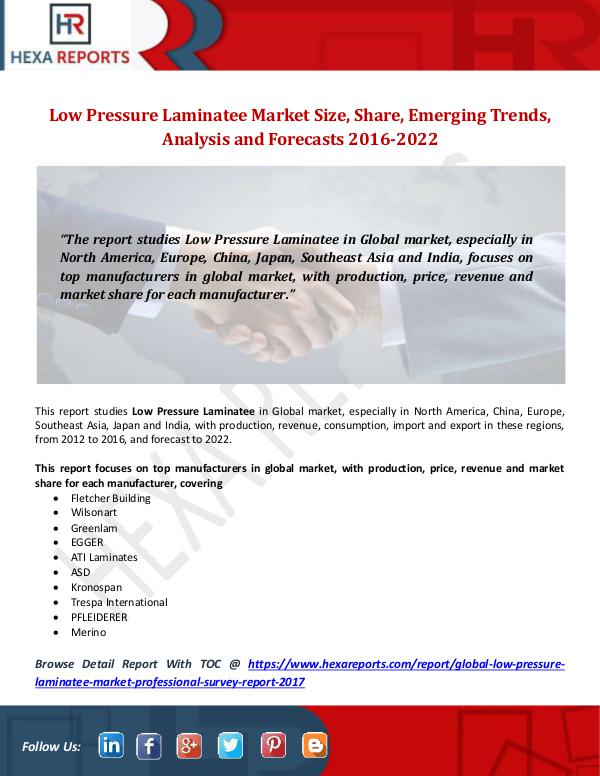Low Pressure Laminatee Market Size, Share, Emergin