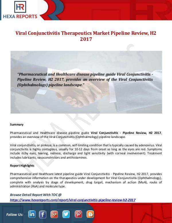 Viral Conjunctivitis Therapeutics Market Pipeline