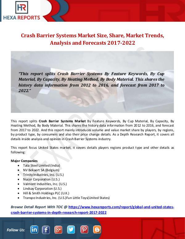 Crash Barrier Systems Market Size, Share, Market T