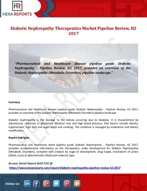 Diabetic Nephropathy Therapeutics Market Pipeline