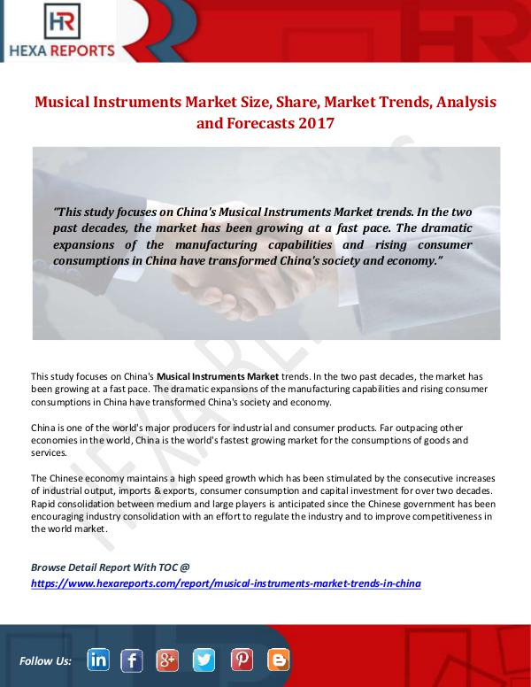 Musical Instruments Market Size, Share, Market Tre
