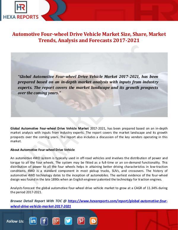 Automotive Four-wheel Drive Vehicle Market Size, S
