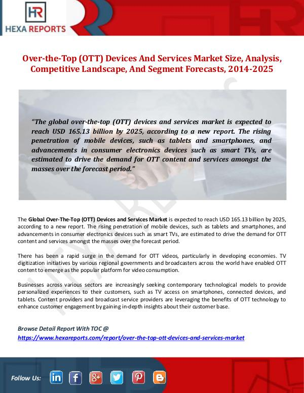 Over-the-Top (OTT) Devices And Services Market Siz