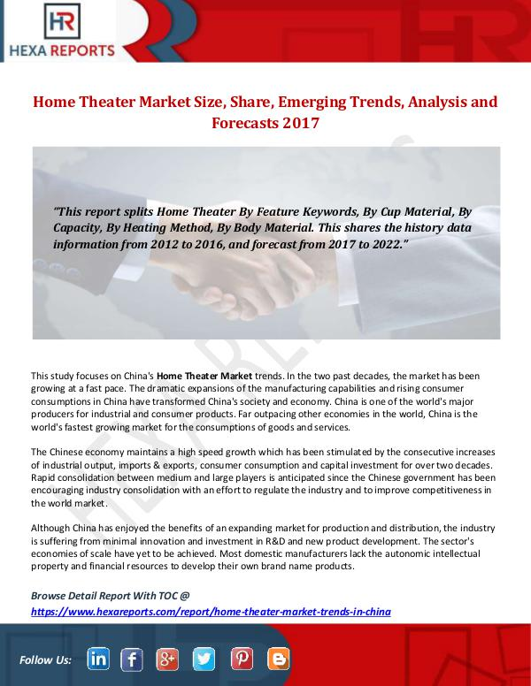 Home Theater Market Size, Share, Emerging Trends,