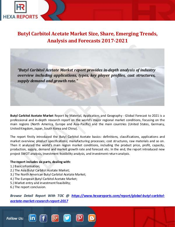 Butyl Carbitol Acetate Market Share, Market Trends