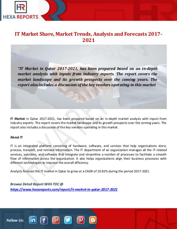 IT Market Share, Market Trends, Analysis and Forec