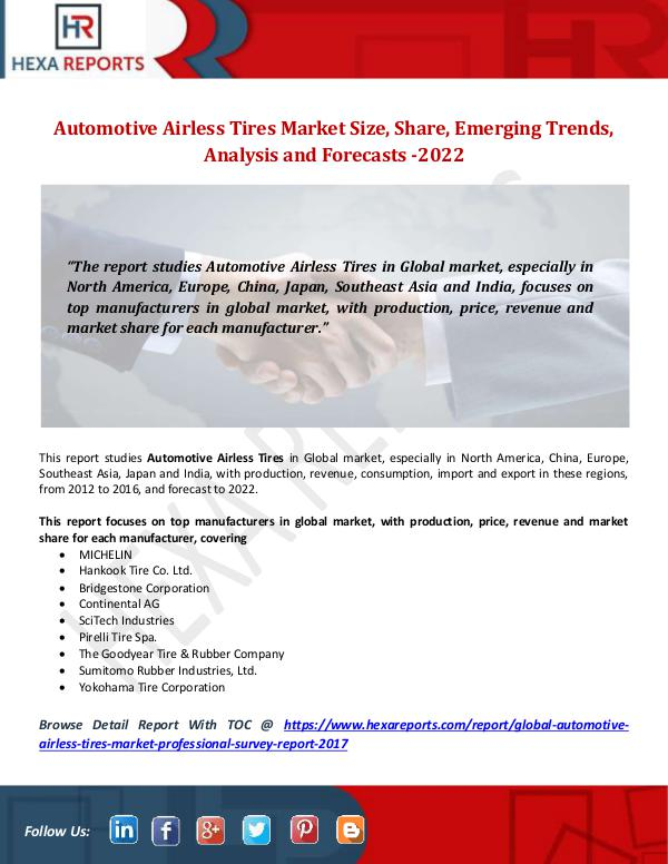 Automotive Airless Tires Market Size, Share, Emerg