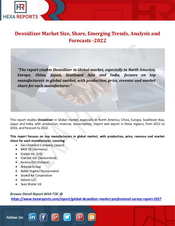 Deoxidizer Market Size, Share, Emerging Trends, An