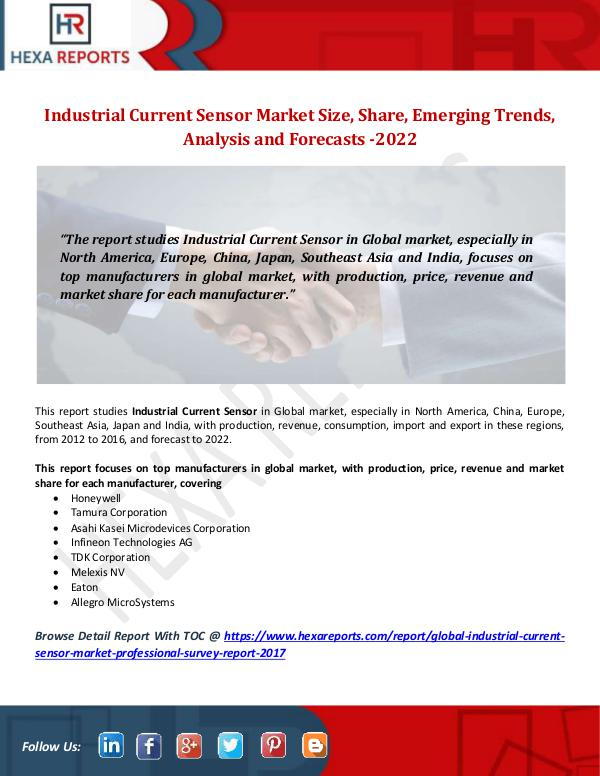 Industrial Current Sensor Market Size, Share, Emer