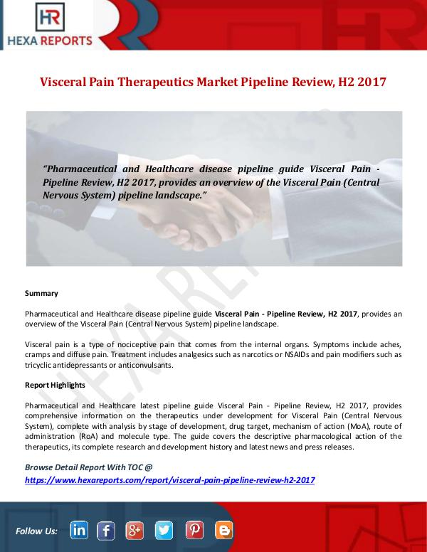Visceral Pain Therapeutics Market Pipeline Review,