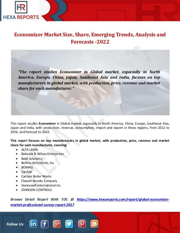 Economizer Market Size, Share, Emerging Trends, An