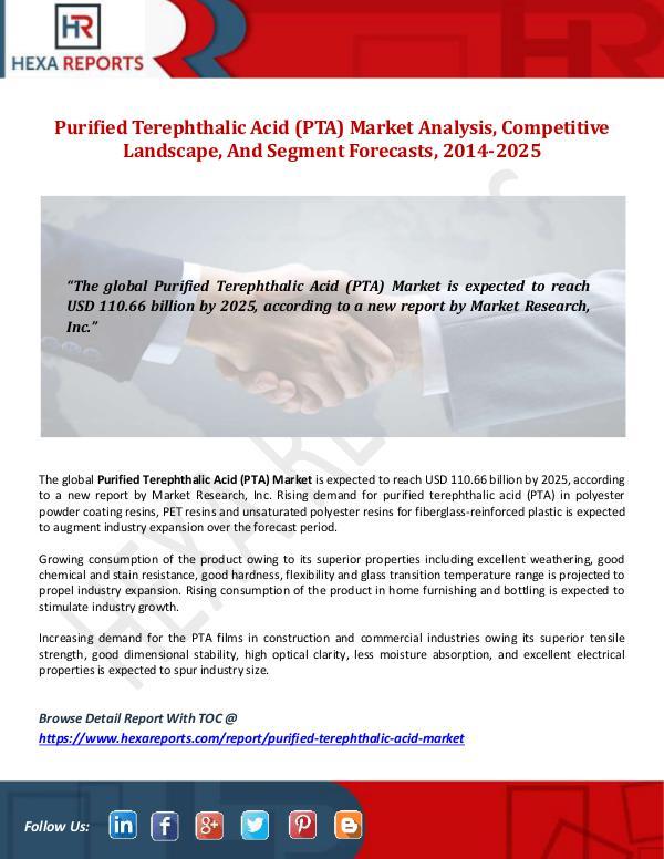 Hexa Reports Purified Terephthalic Acid (PTA) Market Size, Anal