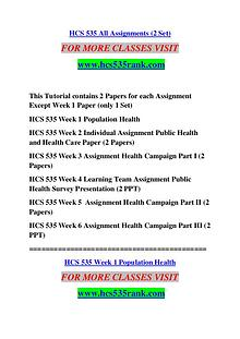 HCS 535 RANK Keep Learning /hcs535rank.com