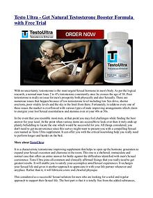 Testo Ultra - Get Natural Testosterone Booster Formula with Free Tria