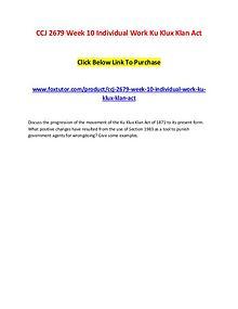 CCJ 2679 Week 10 Individual Work Ku Klux Klan Act