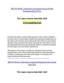 HIS 341 help Minds Online/uophelp.com