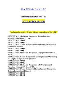 HRM 300 help Minds Online/uophelp.com