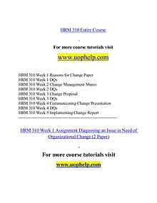 HRM 310 help Minds Online/uophelp.com