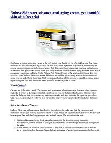 Nuluxe Skincare: Advance Anti Aging cream, get beautiful skin with fr