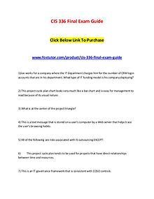 CIS 336 Final Exam Guide