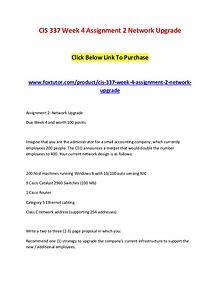 CIS 337 Week 4 Assignment 2 Network Upgrade (2)