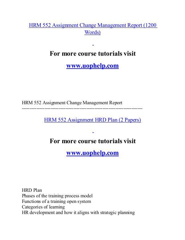 HRM 552 help Minds Online/uophelp.com HRM 552 help Minds Online/uophelp.com