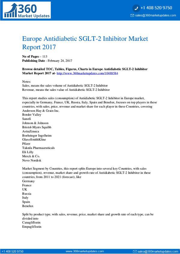 Global 3D Bioprinting Equipment Market Professional Survey Report 201 Antidiabetic-SGLT-2-Inhibitor-Market-Report-2017
