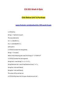 CIS 355 Week 6 Quiz