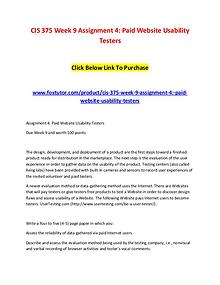 CIS 375 Week 9 Assignment 4 Paid Website Usability Testers (2)