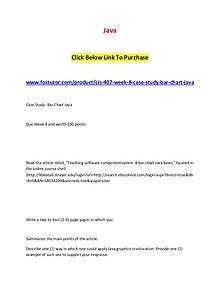 CIS 407 Week 8 Case Study Bar Chart Ja