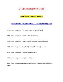 CIS 517 All Assignment