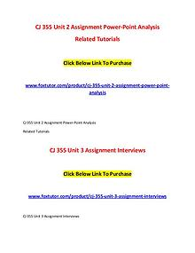 CJ 355 All Assignments