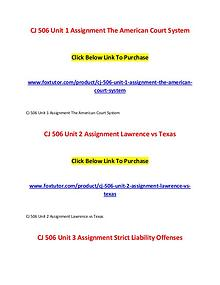CJ 506 All Assignments