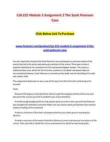 CJA 215 Module 2 Assignment 2 The Scott Peterson Case