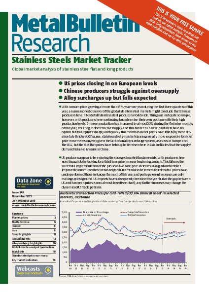 Metal Bulletin Research Stainless Steels Market Tracker