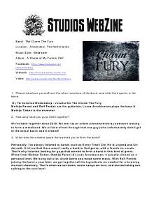 DJ REM STUDIOS Webzine