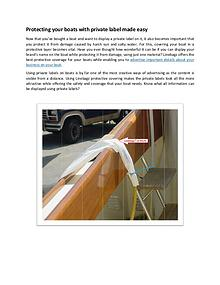 Protecting your boats with private label made easy