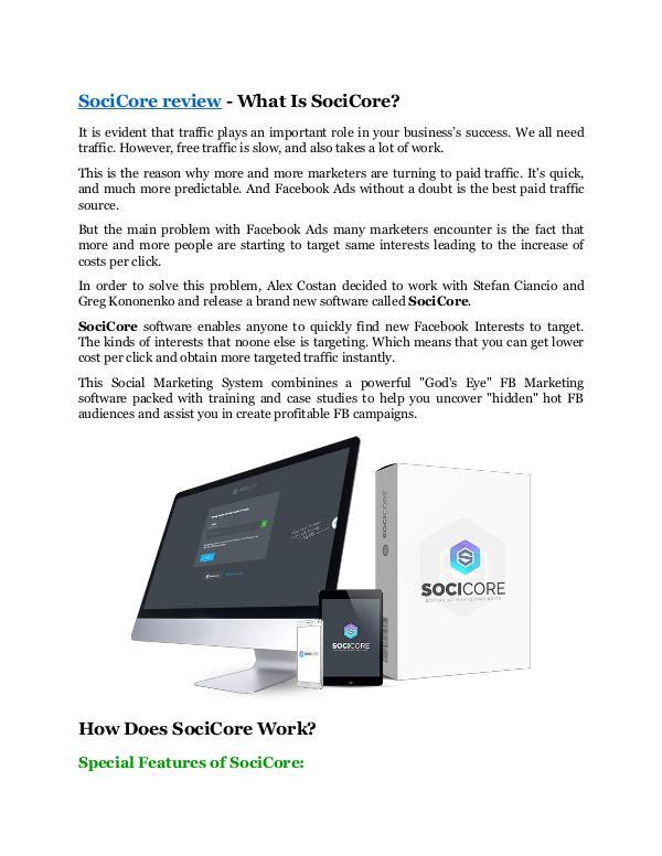 SociCore review & massive +100 bonus items