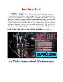 Test Boost Excel - Significantly boosts workout endurance and strengt