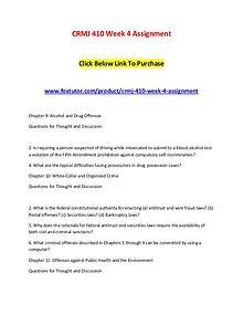 CRMJ 410 Week 4 Assignment