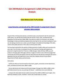 CJA 340 Module 5 Assignment 1 LASA 2 Prisoner Data Analysis